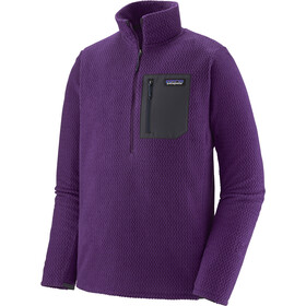 Patagonia R1 Air Sweat À Col Avec Fermeture Éclair Homme, purple